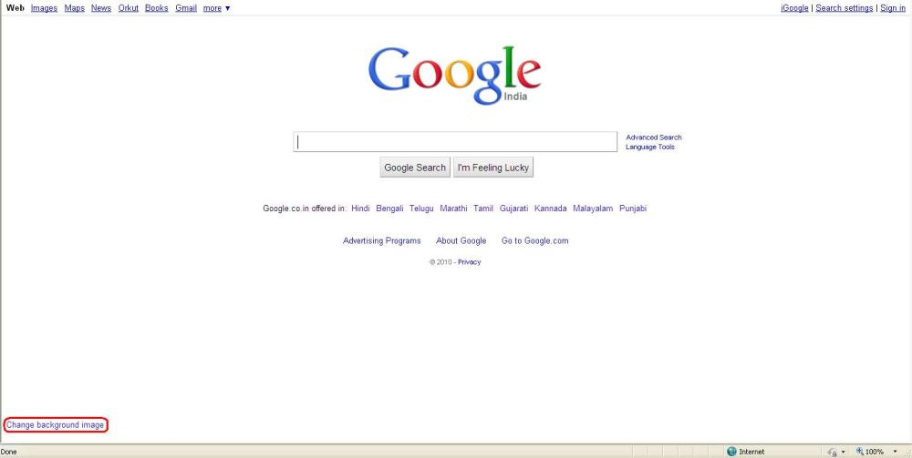 Yes, Now We can change Google background (1/3)