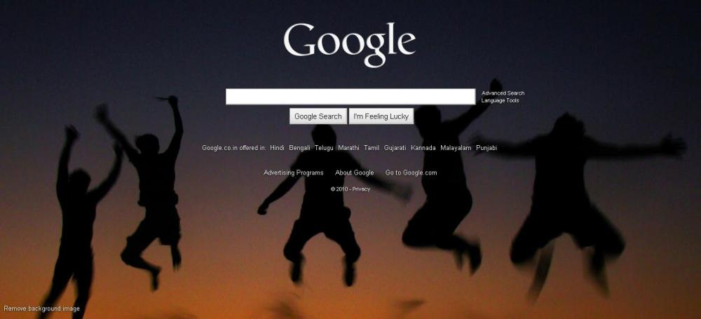 Yes, Now We can change Google background (3/3)
