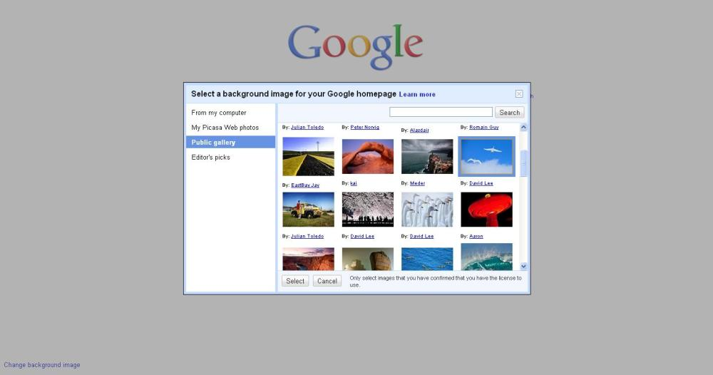 Yes, Now We can change Google background (2/3)